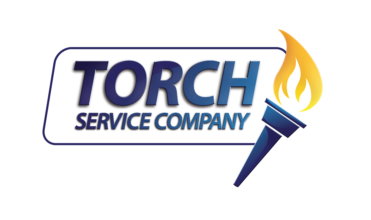 Plumber  Torch Service Company Logo